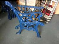 Cast iron padio table ends & seat ends