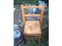 Child's old wooden chair