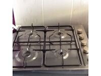 Gas hob fully working very reliable good appliance very clean can deliver