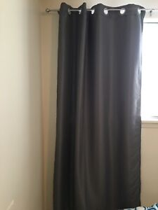 Grey Black out drapes