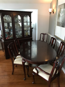 8 Piece Solid Walnut Dining Set