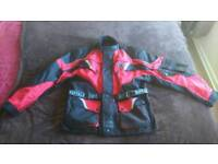 Textile bike jacket and trousers (xl)