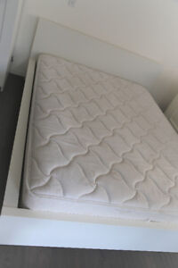 Queen White IKEA BED with NEW MATTRESS