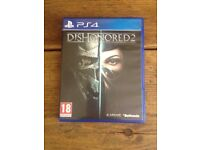 PS4 Dishonored 2 , includes unused DLC code