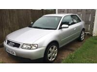 AUDI A3 - 1.8 PETROL - RUNS AND DRIVES - NO MOT - IDEAL EXPORT