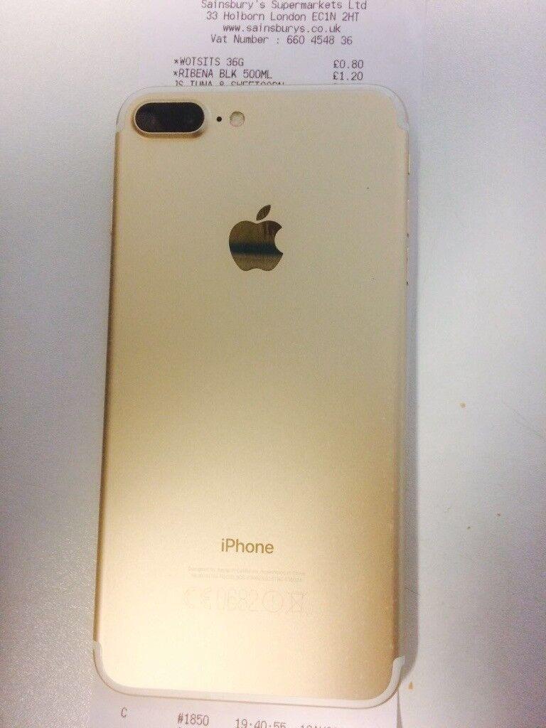 Iphone 7 plus 32gb gold/white unlocked - £550