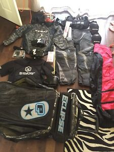 Box of paintball gear