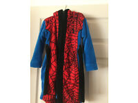 Disney Store dressing gown, spiderman, age 3-4, height 104cm