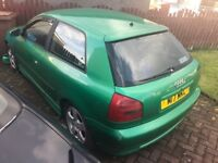 Green 1999 Audi A3 1.9 tdi breaking, spares or repairs