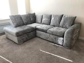 Sofa and bed crushed velvet £500
