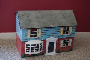 Vintage Doll House and Furniture