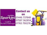 Sparkles cleaning services Cardiff and the Vale off Glamorgan, Call now for your FREE quote