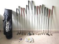 15 Golf Clubs Plus Bag, Balls, Tees