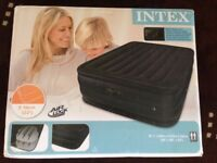 BRAND NEW BOXED - QUEEN SIZE Airbed - Intex Inflatable Double Mattress Guest Electric RRP £99