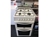 BELLING 50CM ALL GAS COOKER IN WHITE WITH LOD