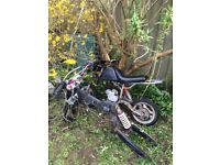 Pit bike and midi bike spares has been sitting out