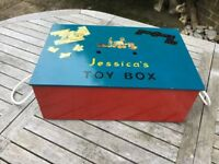 """Lovely Vintage Style Toy Box with name """"Jessica"""""""