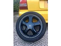 Honda VTI VTEC EG EF ESI VT Alloy Wheels Phat Fives X4 Rare with Centre caps Original Reduced price
