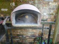 Small traditional garden wood fired pizza oven