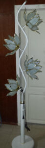 Vintage floor lamp with 4 glass shades Glass Flower Floor Lamp