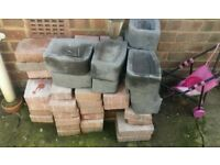 red and grey bricks