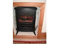 Flame effect electric fan heater - focalpoint 900/1800w like new