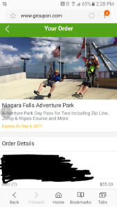 Adventure course - $50 for the pair
