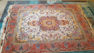 1999 Tabrize Persian Wool and Silk Rug
