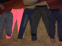 Girls trousers x 5 age 11-13