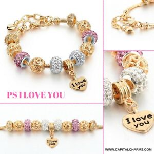 {Free Delivery} Charm Bracelet w/ Charms and Gift Box