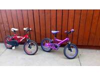Childrens bike boys and girls. Suit ages 4_7yrs.