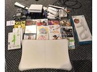 Wii console with fitboard