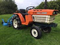 Kubota B1400 2WD Compact Tractor with New 4ft Finishing Mower, Excellent Condition 622 hours