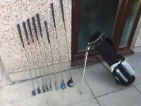 Golf clubs set of irons, driver, wood, putter & bag. Bargain At £20.
