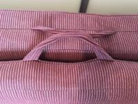 FUTON. Lofa Sofa Bed (Double) aubergine colour