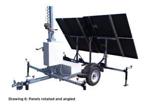 24V Industrial Solar Trailer (740W+) Perfect for farms/cabins