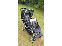 GRACO Double Baby Pushchair Stroller Buggy Black
