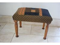Designer one off traditionally upholstered stool