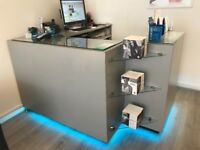 Reception Desk stylish/modern to suit hair beauty or nail salon