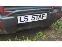 CHERISHED NUMBER PLATE !PERSONALISED PLATE l5 5AFF STAFFIE