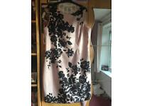 Jacques Vert Size 18 Pink and Black Floral Dress Brand New Never Worn