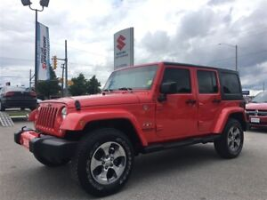 2016 Jeep WRANGLER UNLIMITED Sahara 4X4 ~Dual Tops ~Nav ~Heated