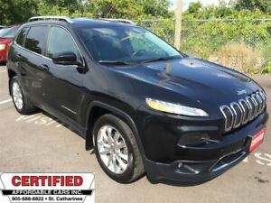 2014 Jeep Cherokee Limited ** NAV, BACKUP CAM, START, HTD LEATH