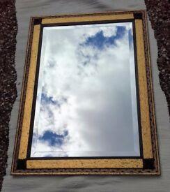 Retro/Deco style rectangular mirror