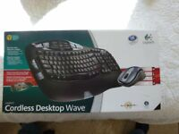 LOGITECH WAVE cordless keyboard and laser mouse