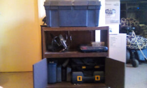 Tool box tools and storage cabinet