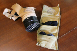 Gas Mask and Sewing Kit WW2