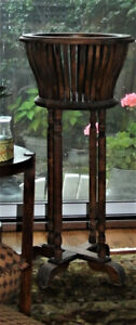 Antique Oak Fern Stand