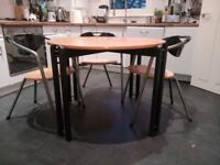 Modern round dining table and chairs for sale