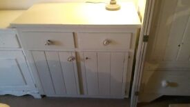 Double cupboard with drawers